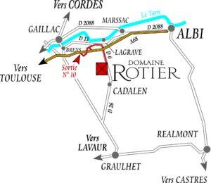 plan accès Domaine Rotier