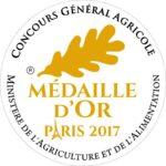 Médaille d'Or Paris 2017